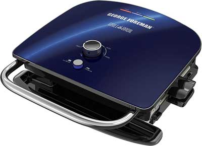#8. George Foreman GBR5750SCBQ 7-in-1 Removable Plates Electric Indoor Grill (Blue)