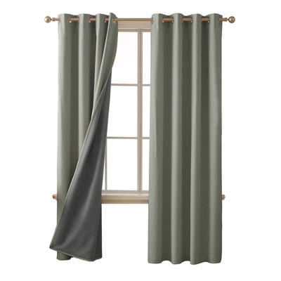 2. Deconovo Thermal Insulated 52 x 84 Inch Total Blackout Curtains
