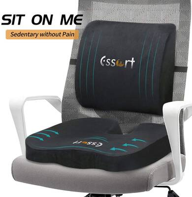 #3. ESSORT Orthopedic Coccyx Cushion Pad Posture Corrector for Car Seat & Office Chair (Black)