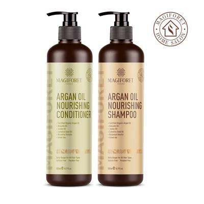 #8. MagicForet Argan Oil 2 16.9 Fl. Oz. Volumizing & Moisturizing Organic Shampoo & Conditioner