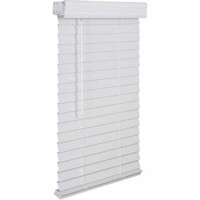 4. Lotus & Windoware FCX3460WH 34X60 White 2inch Faux Low Maintenance Wood Blinds