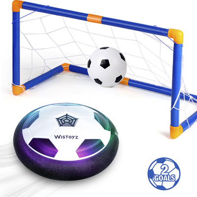 #6. WisToyz Hover Soccer Goal for kids - The Inflatable Ball Included