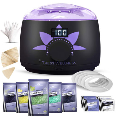 2- Wax Warmer Hair Removal Waxing Kit By Tress Wellness