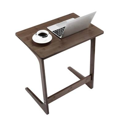 #7. NNEWVANTE Side Table Modern Furniture Home Décor Office Walnut Laptop Desk Bamboo Table