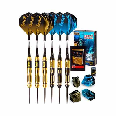 #4. IgnatGames Professional Darts w/Aluminum Shafts Rubber O'Rings Steel Tip Darts Set