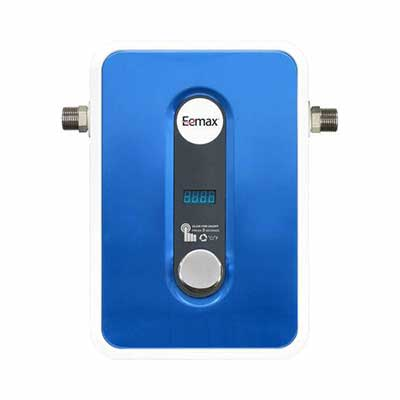#7. Eemax EEM24013 Compact Self-Modulating Tech Consistent Electric Water Heater (Blue)