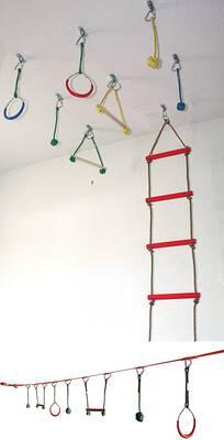 #6. Gym 2 Dance 6 Rungs Climbing Ladder & 7 Monkey Bar Swing Kits for Outdoor & Indoor