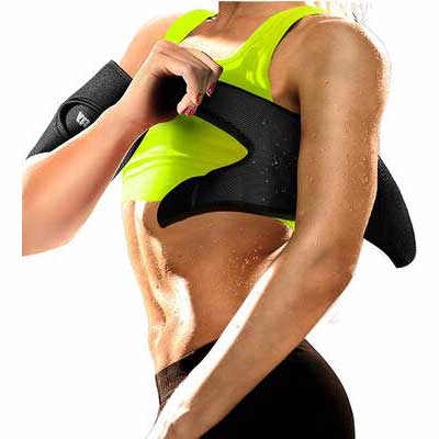 5. LODAY Neoprene Sauna Sweat Band Weight Loss Compression Body Wraps Arm Trimmers Workout
