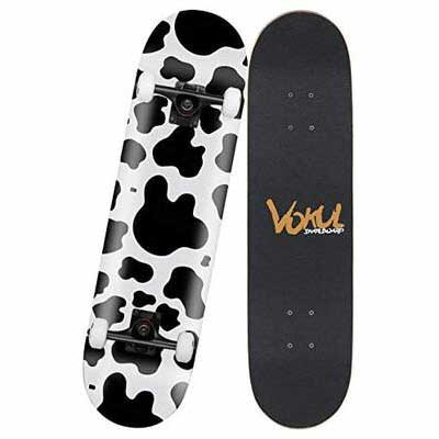 3. VOKUL 7 Layer Maple Double Kick Standard Complete Skateboard for Boys, Girls & Beginners