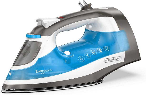 5. BLACK+DECKER Size Cord Reel Stainless Non-Stick One-Step Steam Iron (Blue)