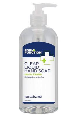 #7. Form + Function 16 Oz. 12-Pack Dye-Free Scented Rich Foam & Lather Clear Liquid Hand Soap