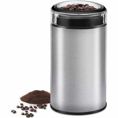 7. CUSIBOX Store Stainless Steel Blade Grinder Brushed Stainless Steel Texture Electric Coffee Grinder