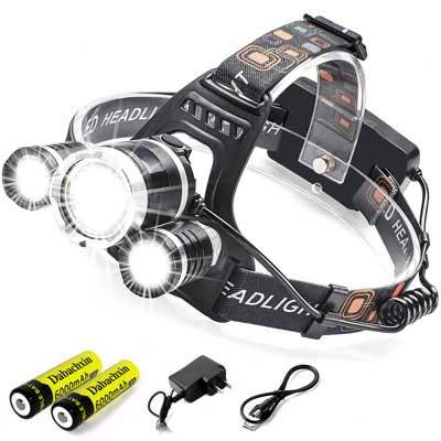8. Dabachxin LED Headlamps Flashlight - Waterproof design with a Brightness of 8000 Lumens