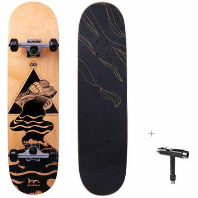 1. M Merkapa 7 Layer Canadian Maple 31'' Pro Complete Kick Deck Concave Skateboard w/Tool