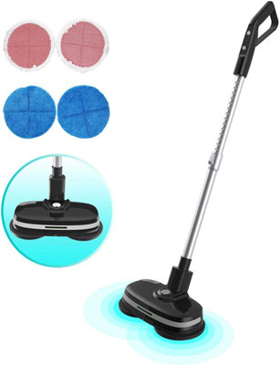#7. Mamibot Cordless 3-in-1 Electric Dual Spin Mop with Adjustable Handle (Black)