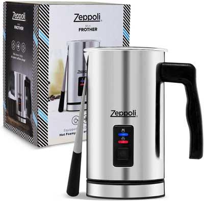 9. Zeppoli Milk Warmer and Frother Milk Steamer Automatic Milk Heater