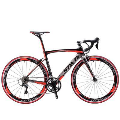 #1. SAVADECK Warwinds 3.0 700C 18 Speed Derailleur & Double V Brake Carbon Fiber Racing Bike