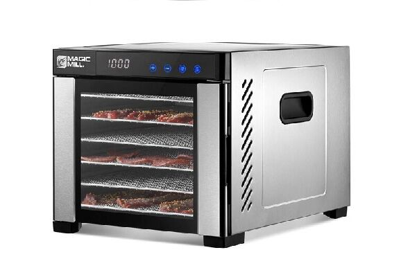 3. MAGIC MILL Over-Heat Protection 6 Stainless Steel Trays Dryer Commercial Food Dehydrator