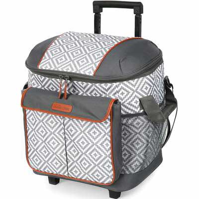 4. Arctic Zone 44-Can Insulated Rolling Tote - Gray/White