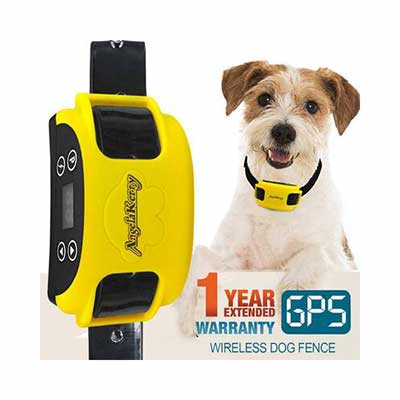 9. AngelaKerry Wireless Dog Fence with GPS, Rechargeable, and Waterproof Collar