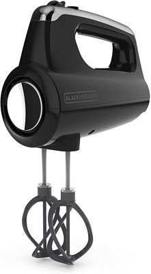 #6. Black + Decker MX600B 5-Speed Premium Quality 5 Attachments Hand Mixer (Black)