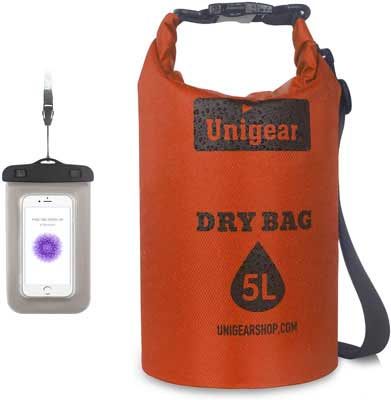 #4. Unigear Roll Top Lightweight Leak-Free Heavy Duty Convenient to Carry Dry Bag