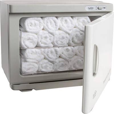 #4. ForPro Premium UV Sterilization Holds 24 Facial-Sized Towels Rust Resistant Hot Towel Warmer
