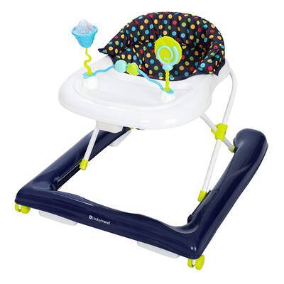 #5. Baby Trend Sprinkles Blue Stable Removable Toy Unit Adjustable Height Activity Walker