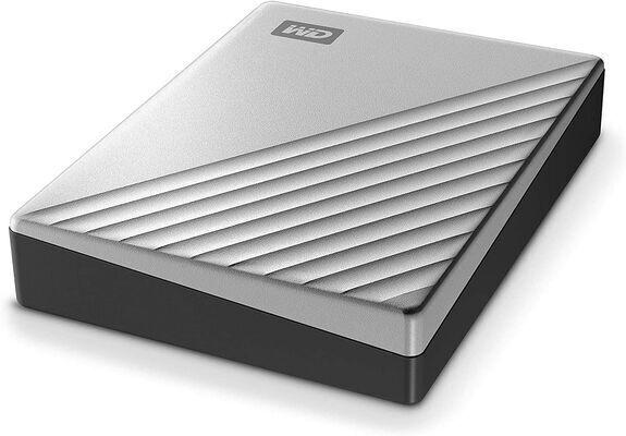 9. WESTERN DIGITAL WESN USB-C Silver 1 TB Ultra-Slim Portable External Hard Drive