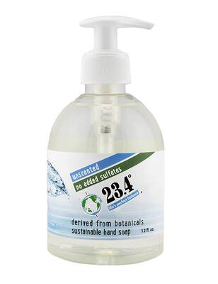 #3. 23.4 Degrees Life's Perfect Balance 6 Units 72 Fl. Oz. Unscented Pump Cruelty-Free Hand Soap