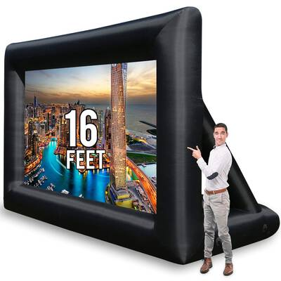 #9. KHOMO GEAR 16 Feet Jumbo Inflatable Theater Projector Screen