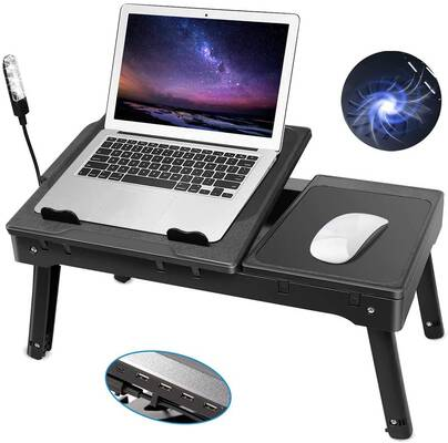 #7. Moclever Multifunctional Laptop Bed Table