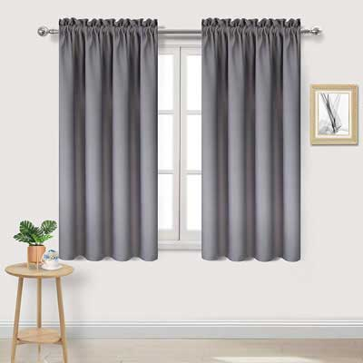 10. DWCN Blackout Curtains Thermal Insulated Room Darkening Bedroom Curtains