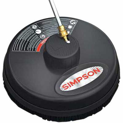 8. Simpson Cleaning Rated Up to 3700 PSI Steel Surface Scrubber for Cold Water Pressure