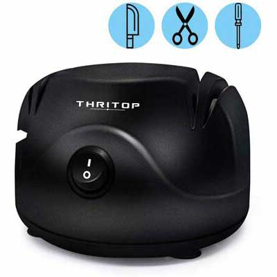 8. THRITOP 3 in 1 Electric Knife Sharpener Tool