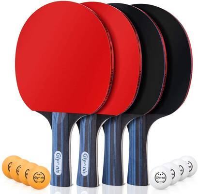 #3. Glymnis Ping Pong Paddle Set for Professional Indoor and Outdoor Use