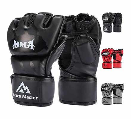 #8. Brace Master MMA Boxing Gloves