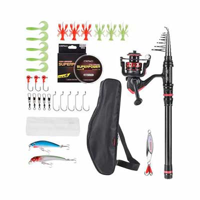 10. CAPACI Fishing Rod Reel Combo with Full Kits