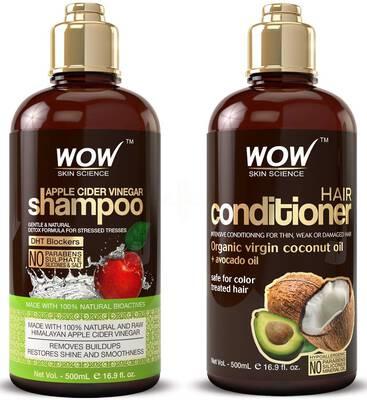 #2. BUYWOW Apple Cider Vinegar 2 16.9 Fl. Oz. All Hair Hydration Shampoo & Hair Conditioner Set