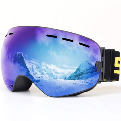 #8. SPOSUNE OTG Anti-Fog Spherical Dual Lens UV400 Protection Helmet Compatible Ski Snow Goggles