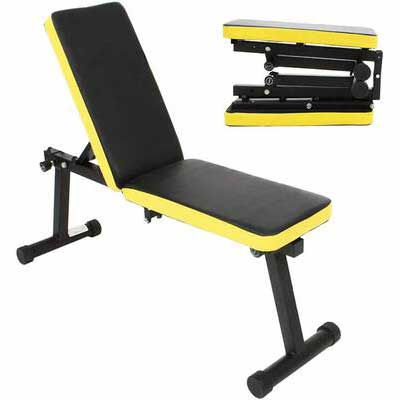 9. SOGES Multi-Functional Foldable PSBB003 Height Adjustable Incline Dumbbell Bench Home Gym
