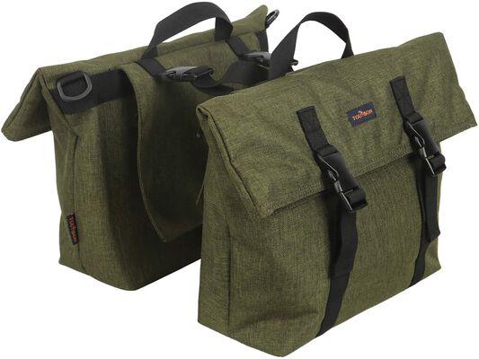 2. TOURBON Nylon Pannier Shoulder Bag
