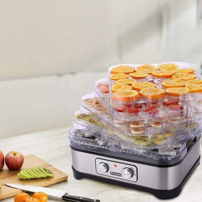 10. Homdox Button/8-Tray 8 Dryer Trays BPA-Free Preserving Wild Food Dehydrator Machine