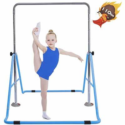 #5. Safly Fun Gymnastics Bar - Height Adjustable