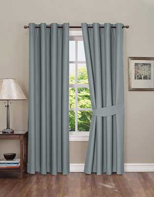 9. Boston Linen Company 2 Panels 42x63 inch Blackout Curtain