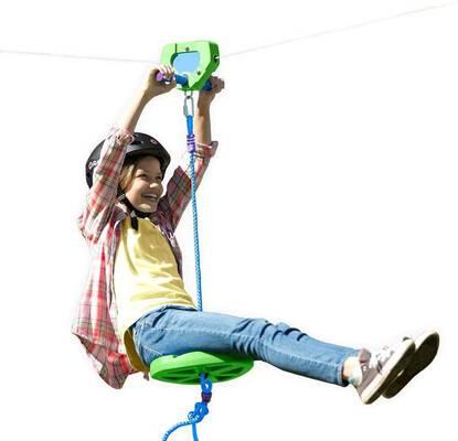 #1. HeartSong 100inch Green Kids Backyard Zipline Kit w/Adjustable Seat & Non-Slip Handle