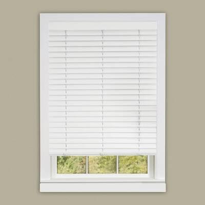 9. PowerSellerUSA White 2inch 36x64 L Venetian Achim Furnishing Cordless Window Roller Blinds