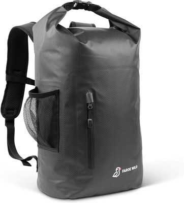 #1. Faroe Wild 25L Compression Padded Shoulder Straps Lightweight Durable Dry Bag Backpack