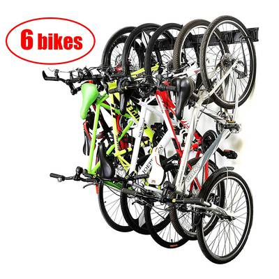 #6. Ultrawall 6 Bike Storage Rack Wall Mount Hanger for Garage and home