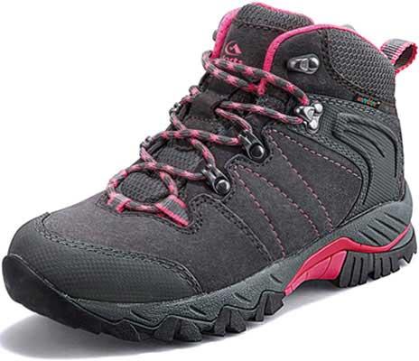 #3. Clorts Waterproof Suede Leather Lightweight Outdoor Backpacking Trekking Trail